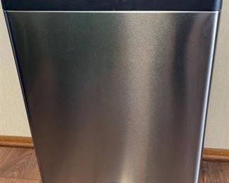 REDUCED!  $37.50 NOW, WAS $50.00..................Simple Human Waste Can with Recycle Bins (H076)