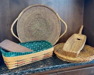 HALF OFF!  $8.00 NOW, WAS $16.00..................Longaberger Basket with Brick and more (H068)