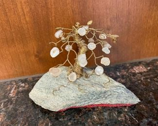 """CLEARANCE !  $2.00 NOW, WAS $10.00...................Beaded Mini Tree 5"""" long, 3 1/2"""" tall (H064)"""