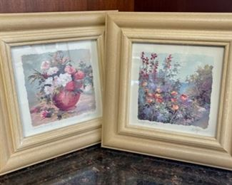 "HALF OFF!  $2.00 NOW, WAS $6.00.................. Pair of Pictures 9 1/2"" square (H062)"