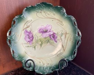 """CLEARANCE !  $5.00 NOW, WAS $16.00..................Vintage Plate 11"""" diameter, stand not included (H056)"""