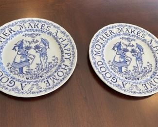 """CLEARANCE !  $2.00 NOW, WAS $12.00.....................Pair """"A Tribute to Mother all Year Long"""" Royal Crownford 9"""" diameter (H049)"""
