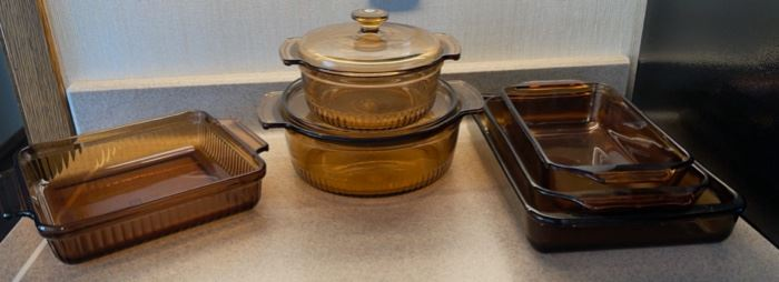 $16.00.................Amber Glass Baking Dishes and more (H043)