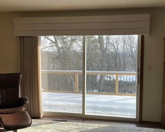 CLEARANCE !  $10.00 NOW, WAS $100.00.................Custom Patio Door Valance and Vertical Blinds (HH)