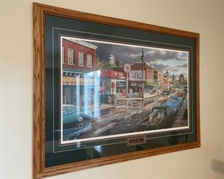 """CLEARANCE !  $15.00 NOW, WAS $50.00..................39"""" x 28 1/2"""" Reflections on Main Street by Ken Zylla (H024)"""