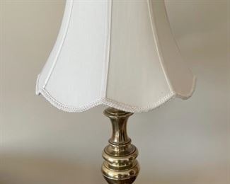 """HALF OFF!  $40.00 NOW, WAS $80.00...............PAIR of Heavy Brass Stiffel Lamps 30"""" tall (H009)"""