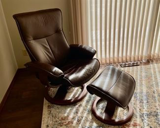 REDUCED!  $600.00 NOW, WAS $800.00...............Fjords Reclining Chair and Footstool (H002)