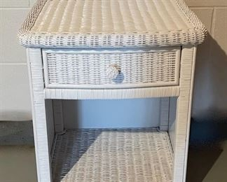 """REDUCED!  $18.75 NOW, WAS $25.00......................Wicker Night Stand 21"""" x 18"""", 25"""" tall (H239)"""