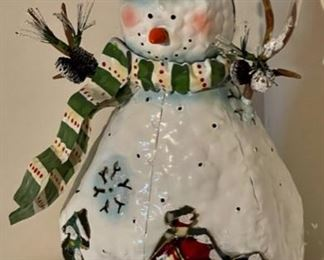 """CLEARANCE !  $2.00 NOW, WAS $10.00................Snowman approx 14"""" tall  (H226)"""