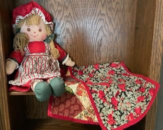 $8.00..............Doll and Holiday Runner (H219)