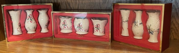 CLEARANCE !  $8.00 NOW, WAS $30.00...............................3 Sets Lenox (H212)
