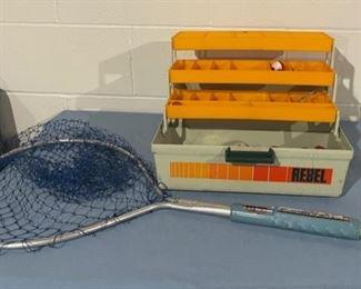 $12.00...............Tackle Box and Fishing Net (H177)