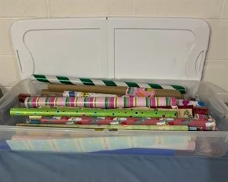 HALF OFF!  $7.00 NOW, WAS $14.00...................Wrapping Paper and Tub (H159)