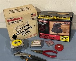 HALF OFF!  $12.50 NOW, WAS $25.00...................Copper Wire, Craftsman Sander and more (H150)