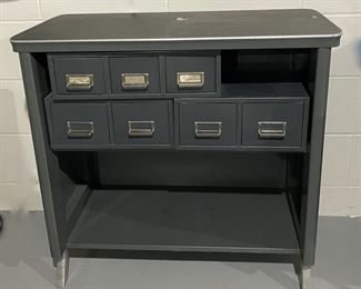 """HALF OFF!  $50.00 NOW, WAS $100.00.......................Unique Vintage Metal Filing Cabinet 35"""" x 18"""", 32 1/2"""" tall (H133)"""