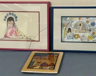 HALF OFF!  $8.00 NOW, WAS $16.00.....................Lawrence Vargas and DeGrazia , One glass broke (H129)