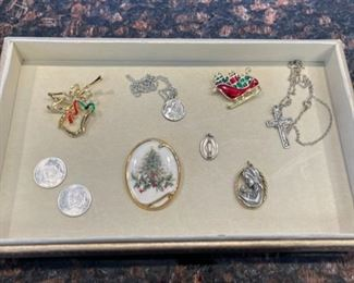 HALF OFF!  $10.00 NOW, WAS $20.00........................Costume Jewelry, one sterling (H118)