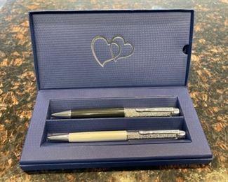 HALF OFF!  $20.00 NOW, WAS $40.00.....................Swarovski Pen Set  (H106)