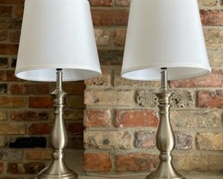 """$25.00....................Pair of Lamps 23"""" tall (H367)"""
