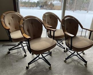 REDUCED!  $75.00 NOW, WAS $100.00.................Set of 4 Roller Chairs great condition (H365)