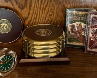 $20.00........................Coasters, Crystal Golf Tee Clock and more (H362)