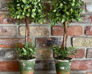 "$16.00.................Pair Plant Decor 20"" tall (H366)"