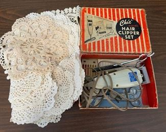 HALF OFF!  $6.00 NOW, WAS $12.00.....................Doilies and Clipper (H344)