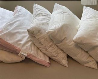 CLEARANCE !  $4.00 NOW, WAS $16.00.......................6 gently used pillows (H308)