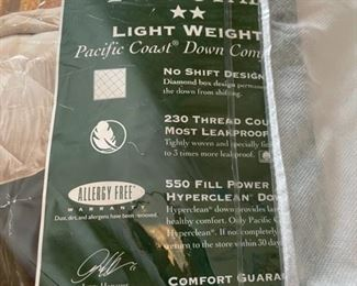 $80.00..........................Pacific Coast Down King Size Down Comforter (H313)