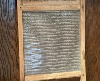 """CLEARANCE !  $15.00 NOW, WAS $45.00.....................Vintage Glass Washboard National Washboard Co. 24"""" x 12"""" (H280)"""