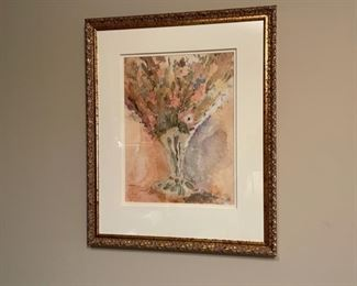 """CLEARANCE !  $10.00 NOW, WAS $40.00..................Signed 19 1/2"""" x 23 1/2"""" (H278)"""