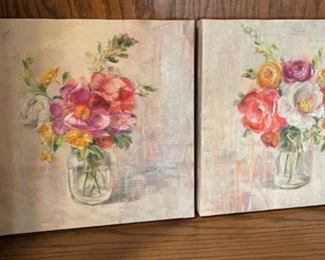 """CLEARANCE !  $3.00 NOW, WAS $16.00.....................Pair Pictures 12"""" square (H269)"""