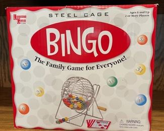 REDUCED!  $9.00 NOW, WAS $12.00........................Steel Cage Bingo Game (H251)