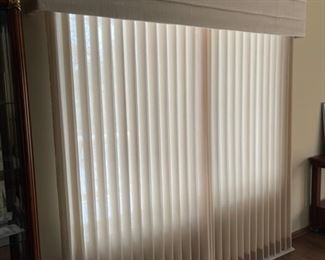 Closed View: Valance and Vertical Blinds (HHH)