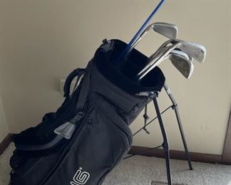 HALF OFF!  $50.00 NOW, WAS $100.00.......................Ping Golf Bag, Ping G5 Titanium, Pine Eye 2 Black Dot Irons 2-5, 7-9 (H398)