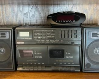REDUCED!  $9.00 NOW, WAS $12.00....................Clock and Boombox (H396)