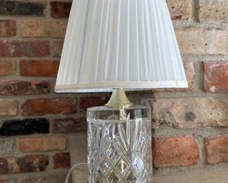 """REDUCED!  $9.00 NOW, WAS $12.00...................Crystal Lamp 13"""" tall (H383)"""