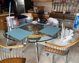 Palma Brava glass kitchen table with 6 chairs