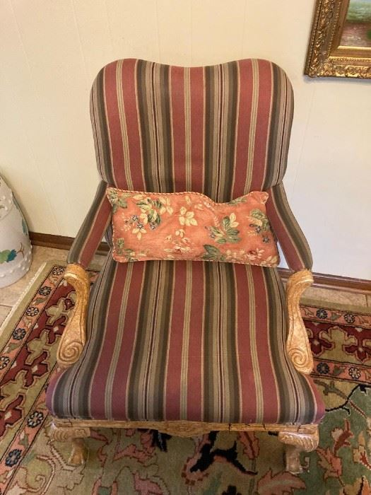 1 of 2 matching arm chairs