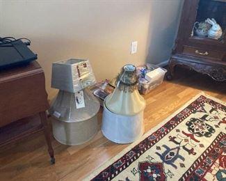 Lamp Shades Tea Cart Rug