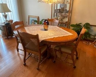 . . . a very nice dining room table and chairs.