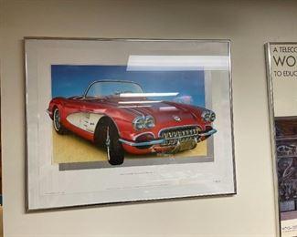 . . . a great vintage Covrvette poster