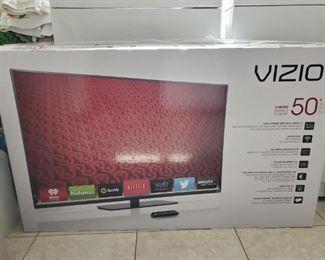 . . . a Vizio flat screen in the box!