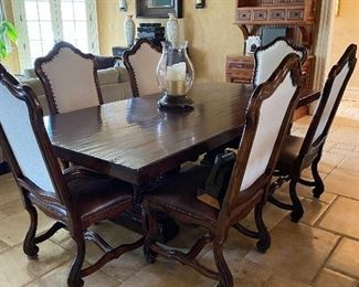 KITCHEN TABLE AND 8 CHAIRS(6 SHOWN)