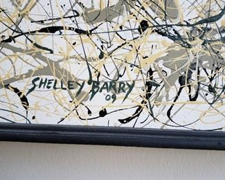 Shelley Barry signature on painting