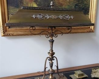 Large brass desk lamp