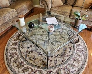 """Hooker"" Glass Top Coffee Table"