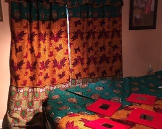 Majestic Drapes and matching Bedspread with PILLOW SHAMS! *CUSTOM
