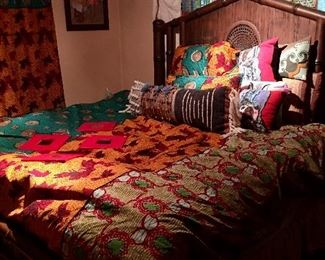 King Bed with Bedding.