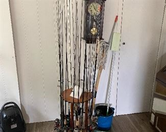 Assorted Fishing Rods and Reels
